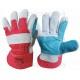 Перчатки комбинированные кожа + ткань усиленные Werk WE2130