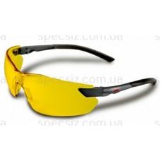 Очки защитные 3М 2822 PC поликарбонат, желтые AS / AF
