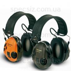Наушники противошумные 3М MT16H210F-478-GN SportTac, зеленые / оранж.
