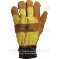 DF132 Утепленные комбинированные перчатки из кожевенного спилка