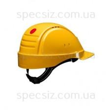 Каска 3М G2000CUV-GU, желтый с вентиляцией, синтетическое оголовье, штифтовая застежка