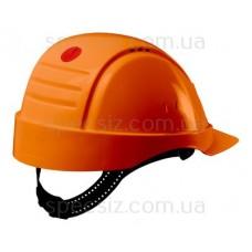 Каска 3М G2000CUV-OR оранжевая, вентиляция, штифтовая, синтетическое оголовье