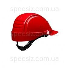 Каска 3М G2000CUV-RD красный с вентиляцией, синтетическое оголовье, штифтовая застежка