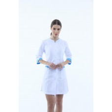 Медицинский халат 131 Белый / Голубой