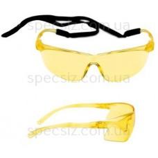 Очки защитные 3М 71501-00003M Тора PC поликарбонат, желтые AS / AF + веревка