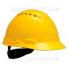 Каска 3М H-700C-GU желтый, штифтовая застежка, с вентиляцией