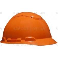 Каска 3М H-700C-OR оранжевый, штифтовая застежка, с вентиляцией