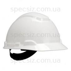 Каска 3М H-701C-VI белый, штифтовая застежка, без вентиляции, диелектрична