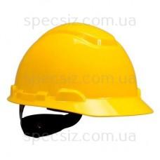 Каска 3М H-701C-GU желтый, штифтовая застежка, без вентиляции, диелектрична