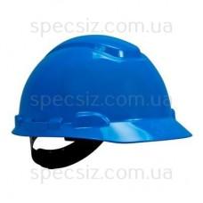 Каска 3М H-701C-BB синий, штифтовая застежка, без вентиляции, диелектрична