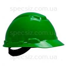 Каска 3М H-701C-GP зеленый, штифтовая застежка, без вентиляции, диелектрична