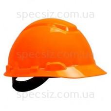 Каска 3М H-701C-OR оранжевый, штифтовая застежка, без вентиляции, диелектрична