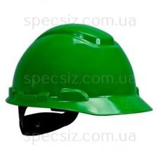 Каска 3М H-701N-GP зеленый, храповик, без вентиляции, диелектрична
