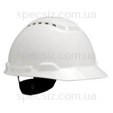 Каска 3М H-700C-VI белый, штифтовая застежка, с вентиляцией