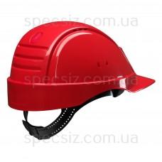 Каска 3М G2000DUV-RD красная с вентиляцией, кожаным оголовьем, штифтовая застежка