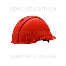 Каска 3М G3001CUV-RD цвет красный без вентиляции, диэлектрика 440 В, синтетическое оголив`я, штифтовая застежка