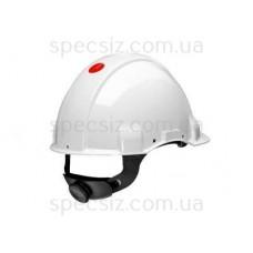Каска 3М G3001CUV-VI цвет белый без вентиляции, диэлектрика 440 В, синтетическое оголив`я, штифтовая застежка