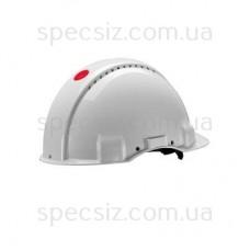 Каска 3М G3001NUV-VI цвет белый, без вентиляции, диэлектрика 440 В, храповик, поворотный механизм, синтетическое оголив`я