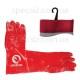 Перчатки МБС красные ПВХ длинная 35см