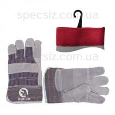 Перчатки комбинированные спилок с х/б