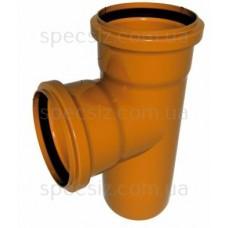 Тройник наружная канализация 110х110х90