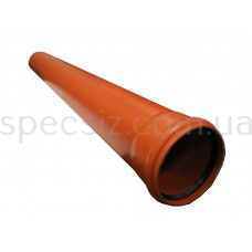 Труба наружная канализация ПВХ 110х1000 2,7мм.