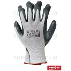 Перчатки из полиестера, покрытые нитрилом RTENI