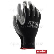 Перчатки из полиестера, покрытые полиуретаном RTEPO